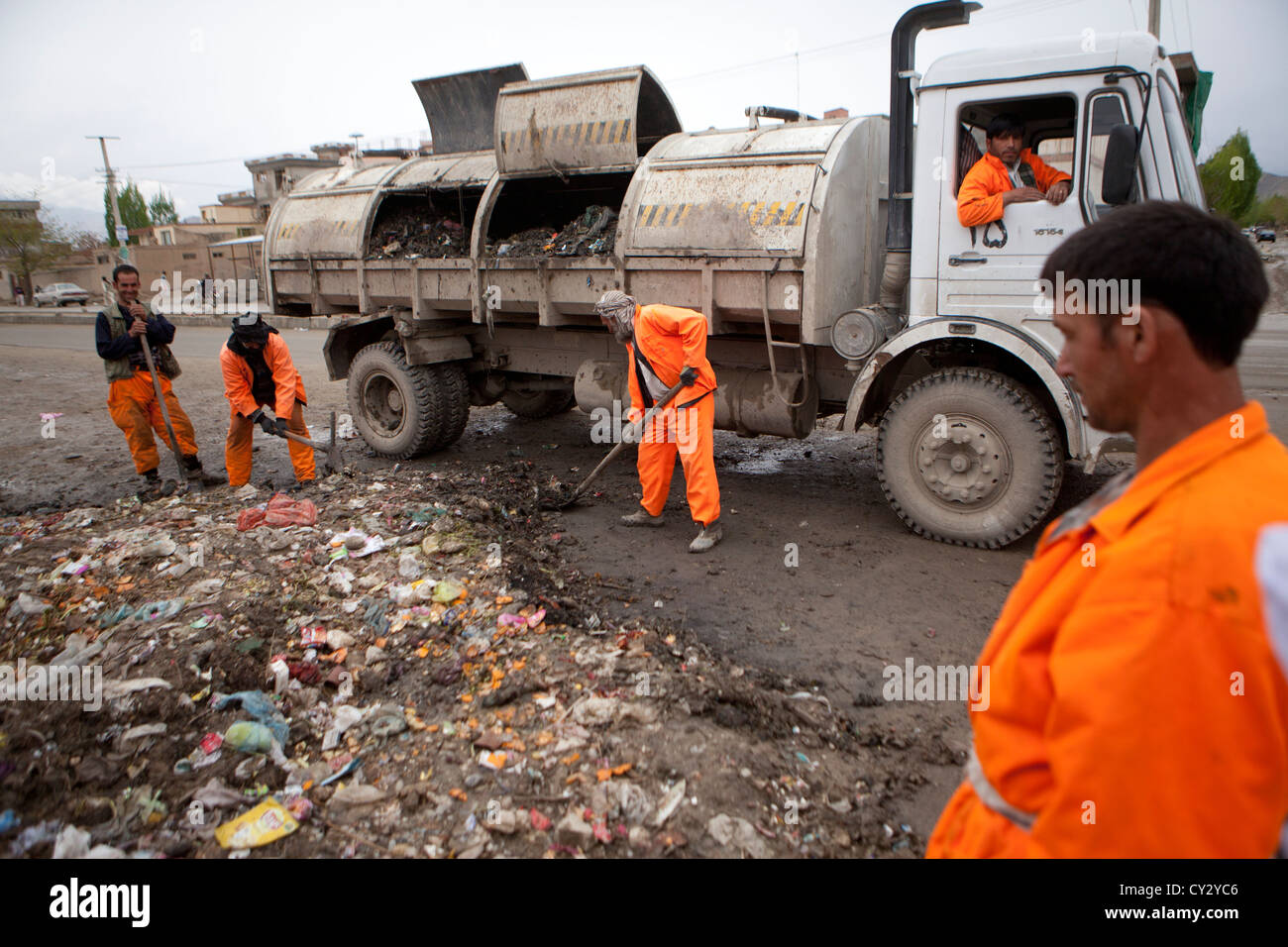 rubbish collection in Kabul, Kabul, - Stock Image