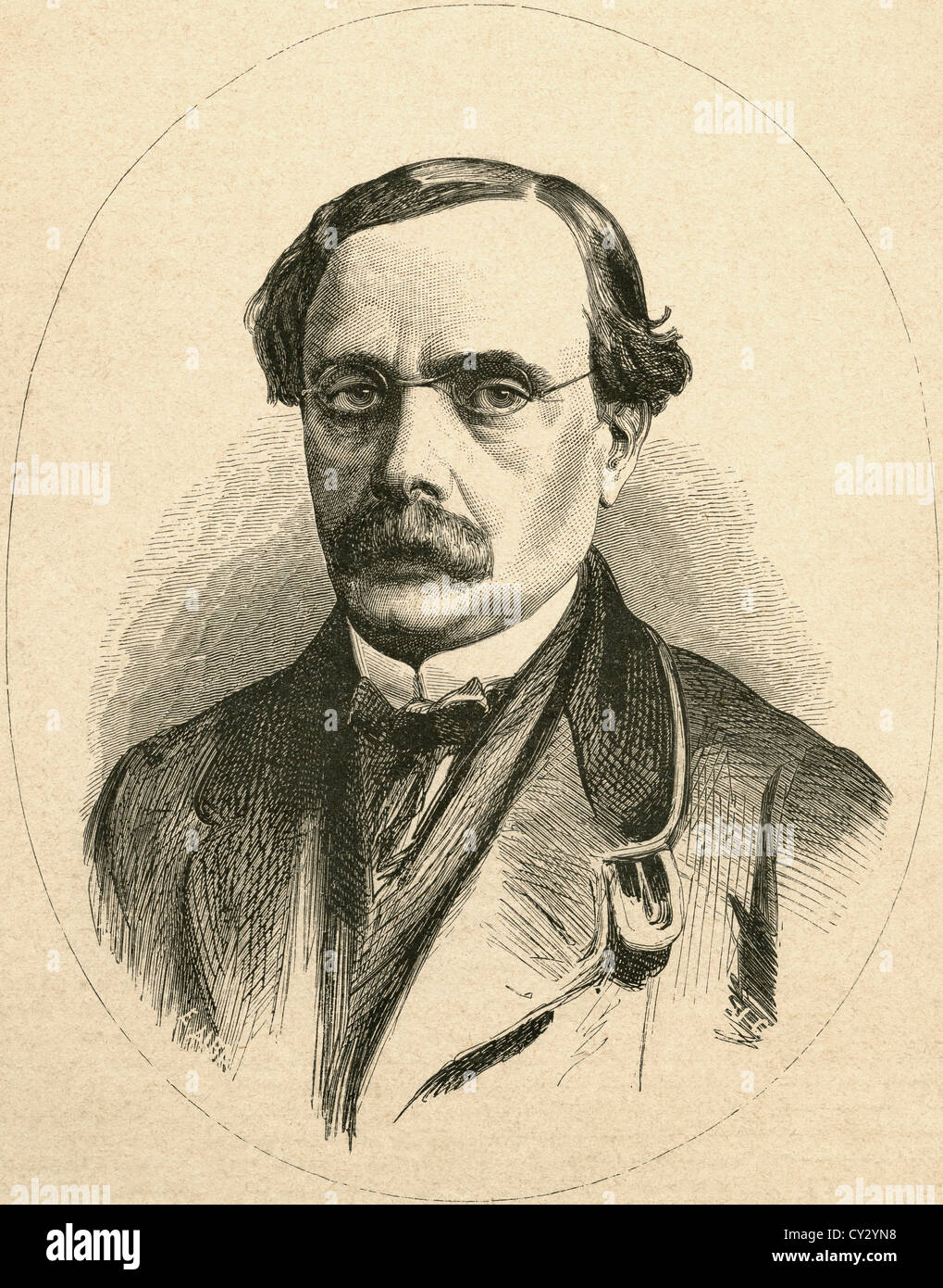 Antonio García Gutiérrez, 1813- 1884. Spanish Romantic dramatist and poet. - Stock Image