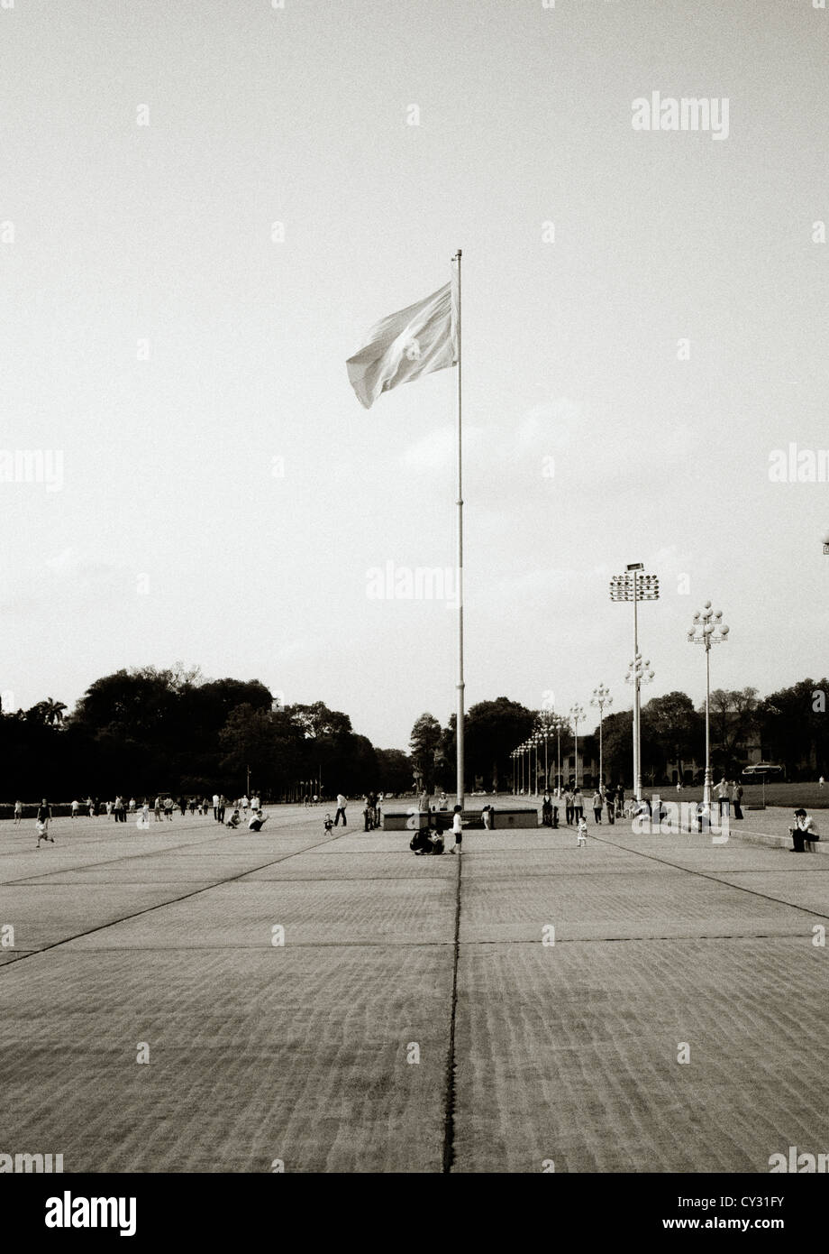 Ho Chi Minh mausoleum in Ba Dinh Square in Hanoi in Vietnam in Far East Southeast Asia. History Leader Icon Iconic - Stock Image