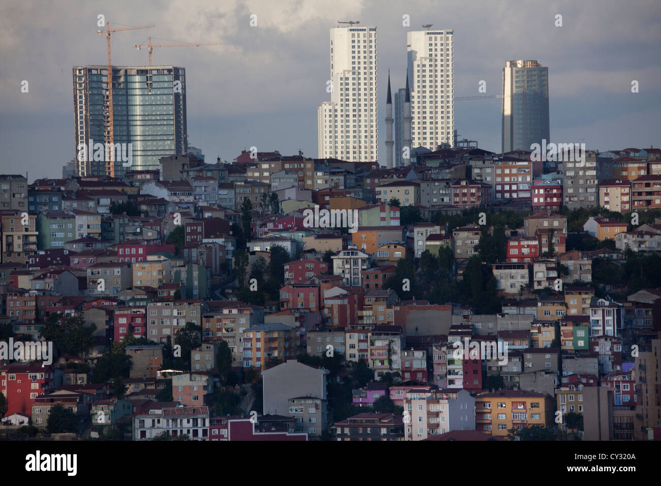 view from the 'Pierre Loti' viewpoint, looking at the golden horn, istanbul - Stock Image