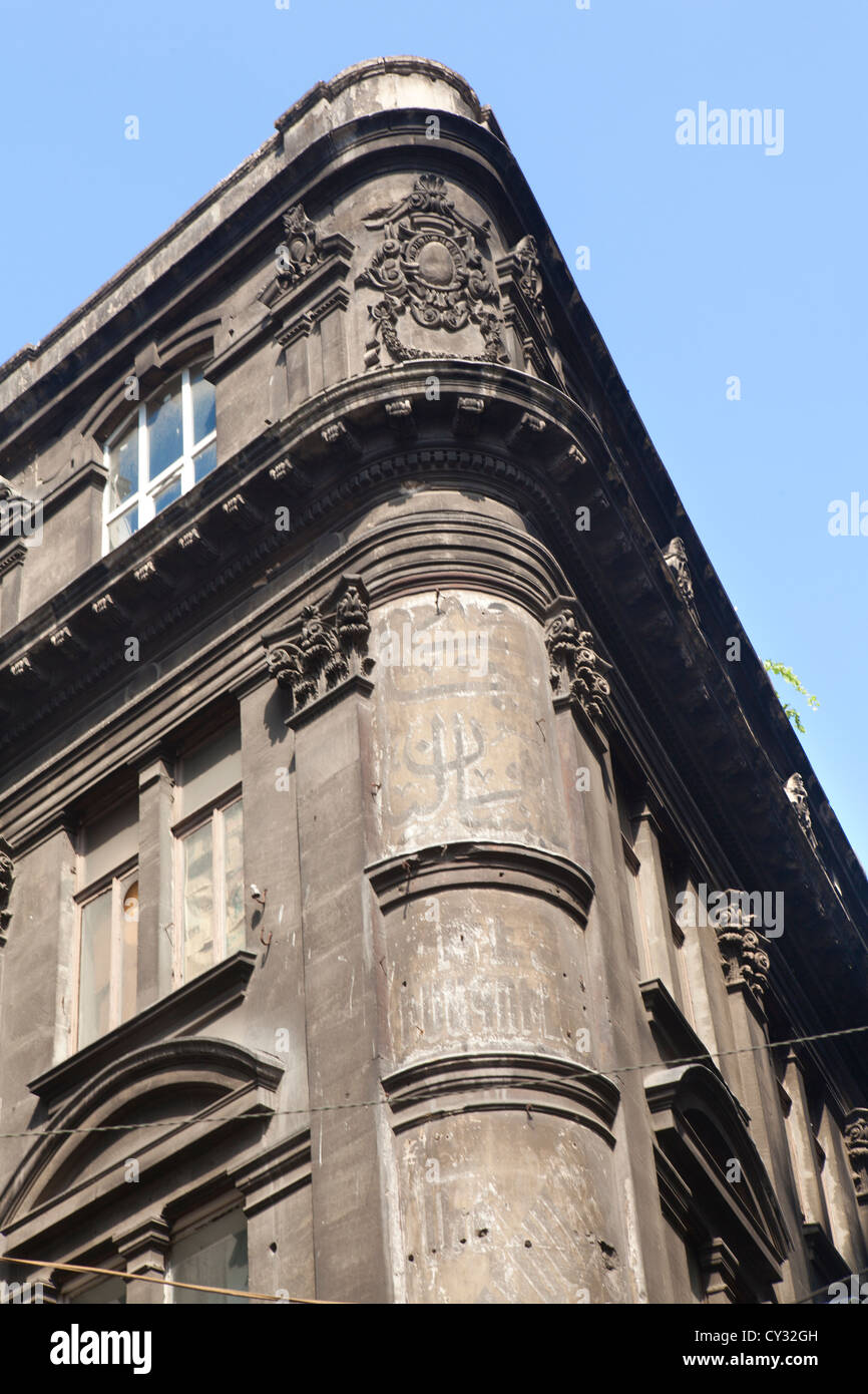 old building in istanbul with arabic, roman and greek script - Stock Image
