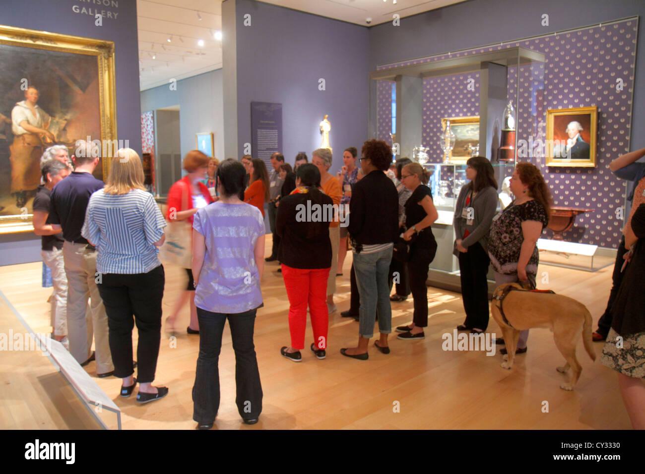Boston Massachusetts Huntington Avenue Museum of Fine Arts collection paintings art - Stock Image