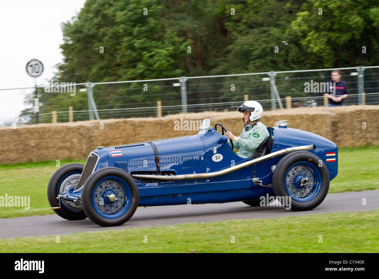 1934 Maserati 8CM with driver Robert Newall at the 2012 Goodwood Festival of Speed, Sussex, UK. - Stock Image