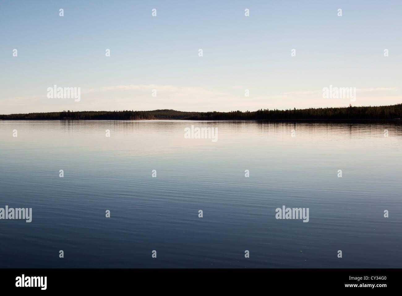 Taken outside Byske in northern Sweden - Stock Image