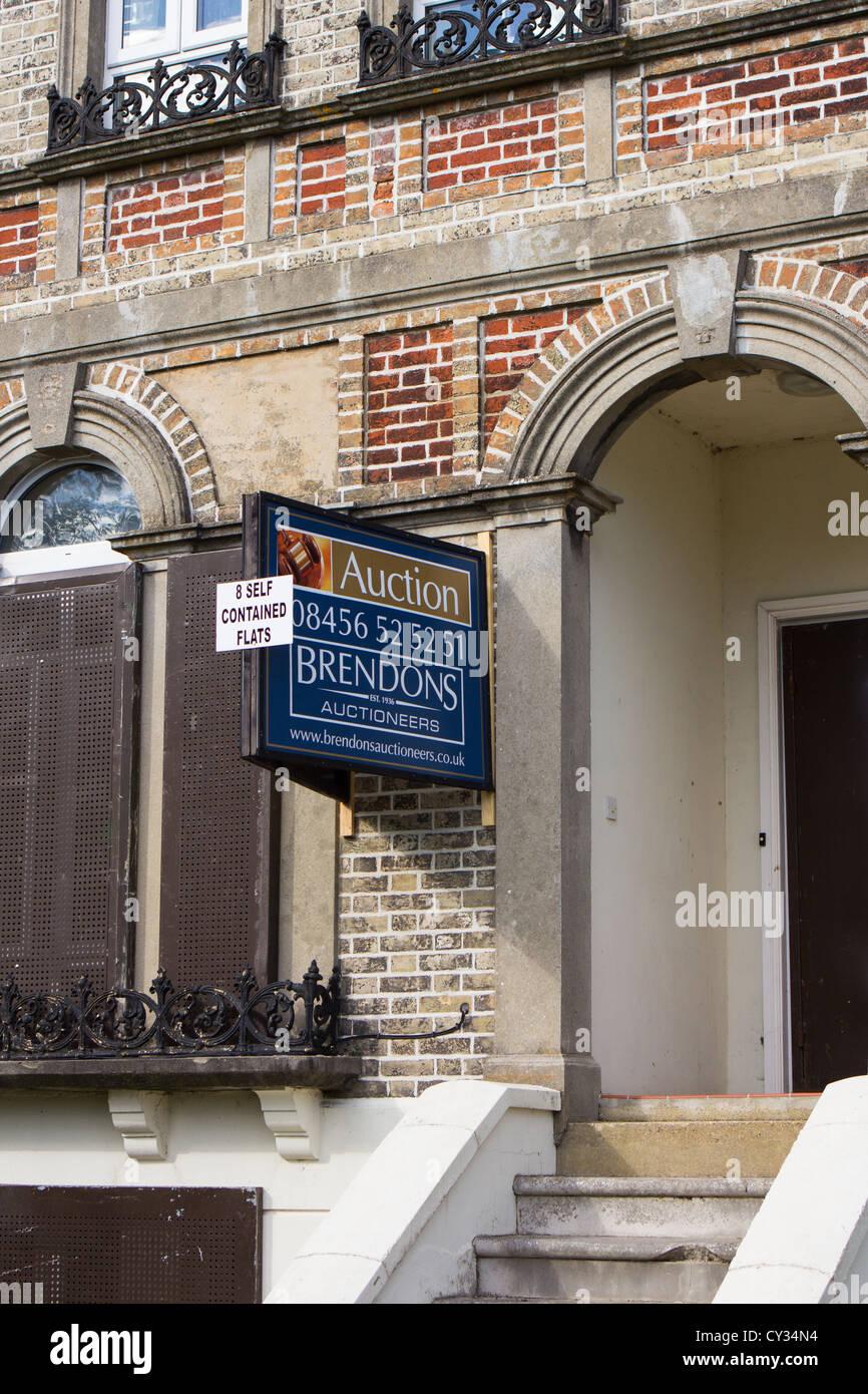 Property Auction sign . Salisbury England UK - Stock Image