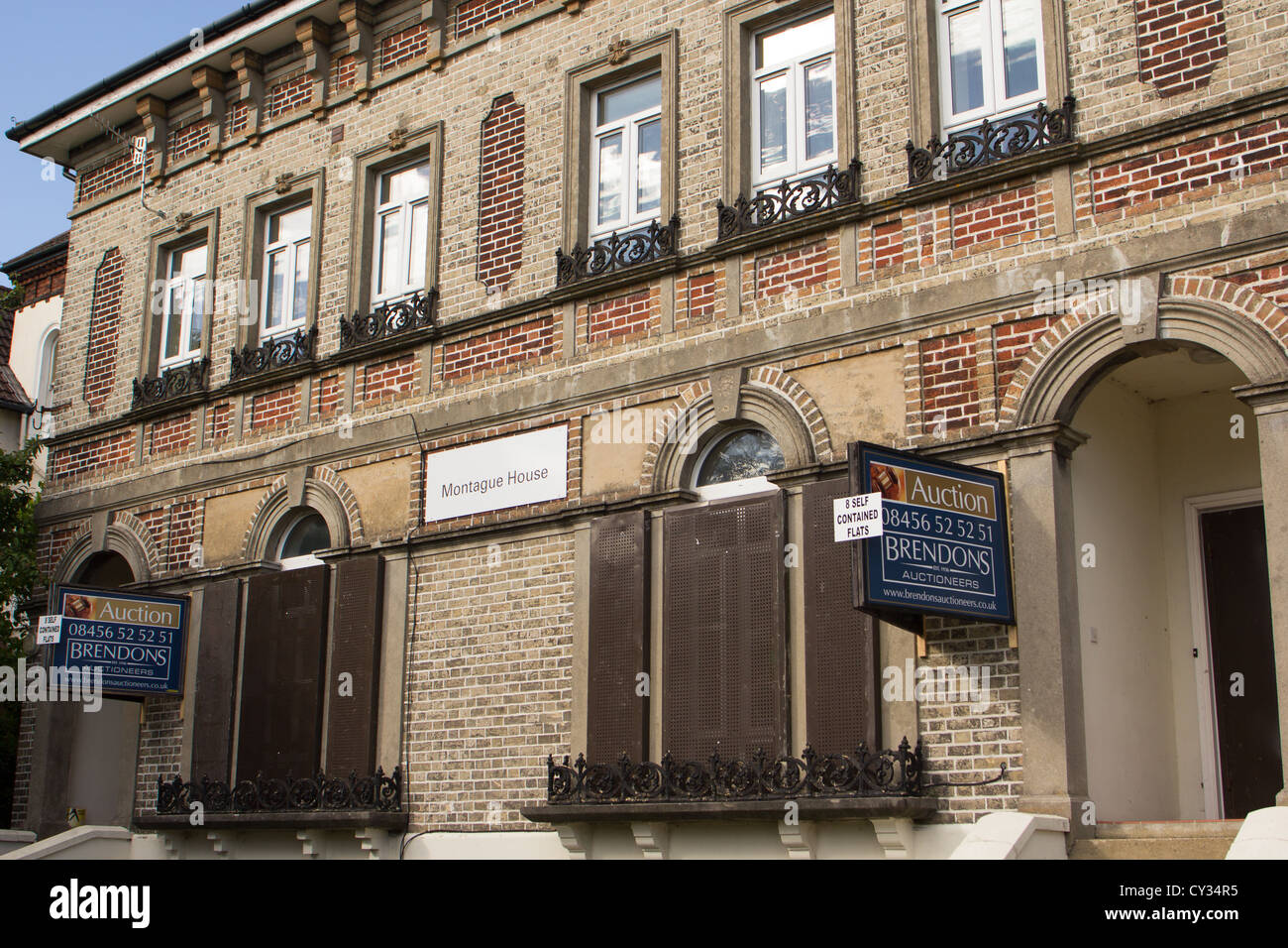 Property Auction signs. Salisbury England UK - Stock Image