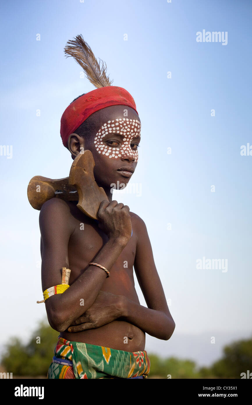 Young child of the Erbore tribe, Omo River Valley, Ethiopia - Stock Image