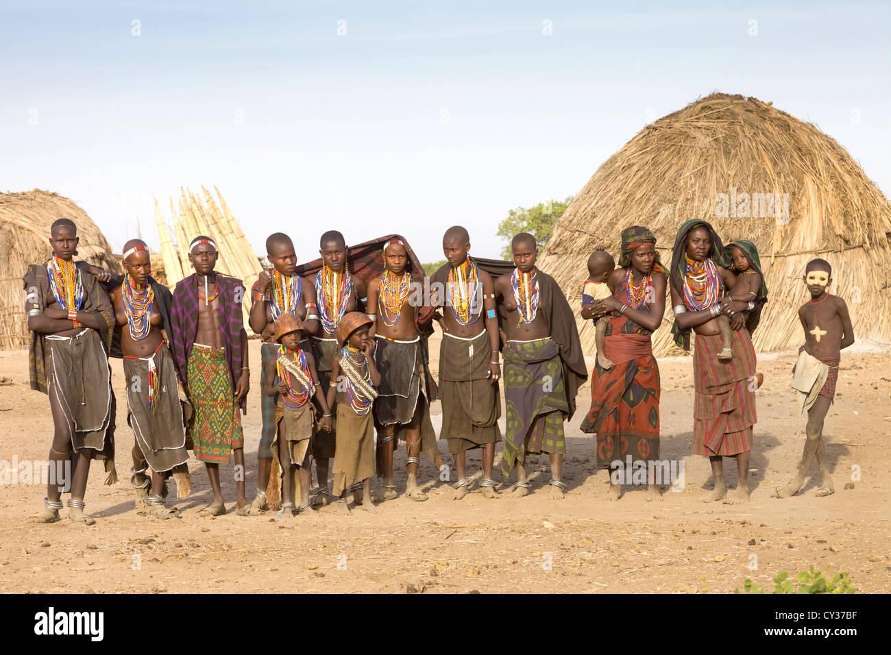 Erbore tribe, Omo River Valley, Ethiopia - Stock Image