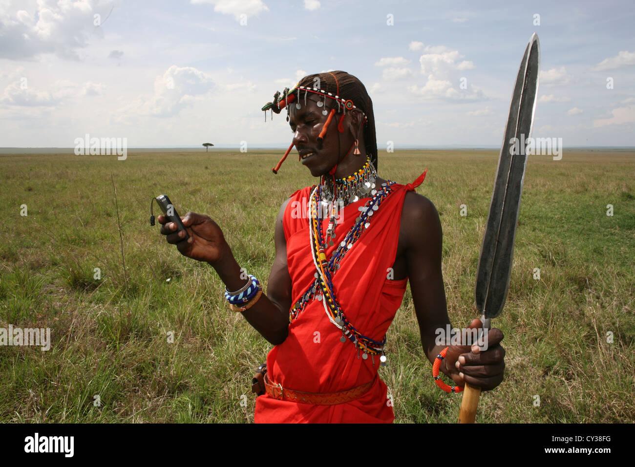 Maasai tribe in Kenya - Stock Image