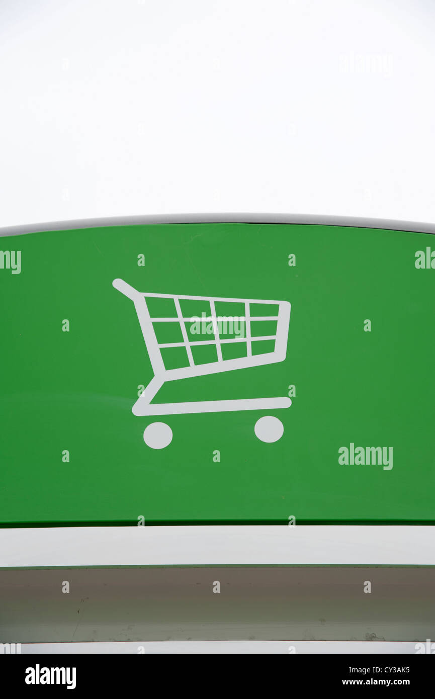 A shopping trolley sign - Stock Image