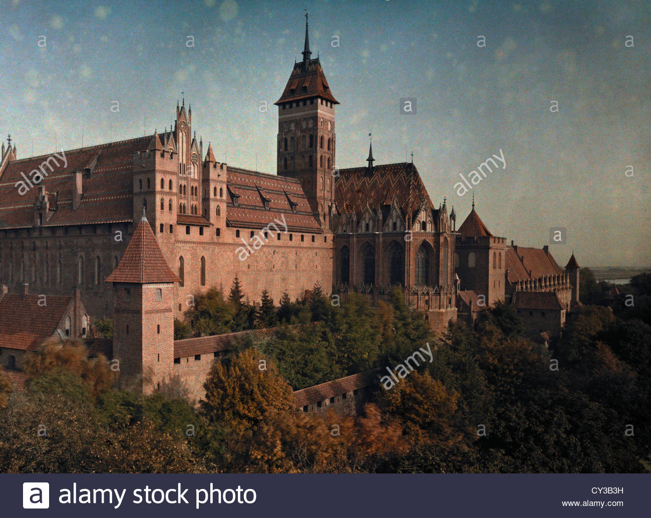 Schloss Marienburg Castle, the most significant of the Teutonic Order. - Stock Image