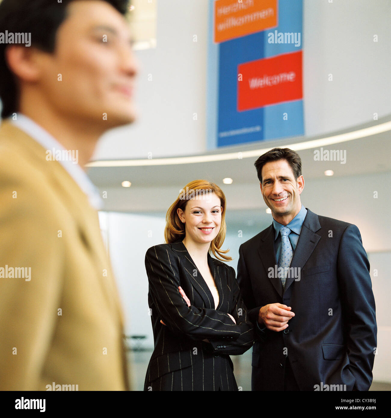 manager business man woman group License free except ads and outdoor billboards - Stock Image