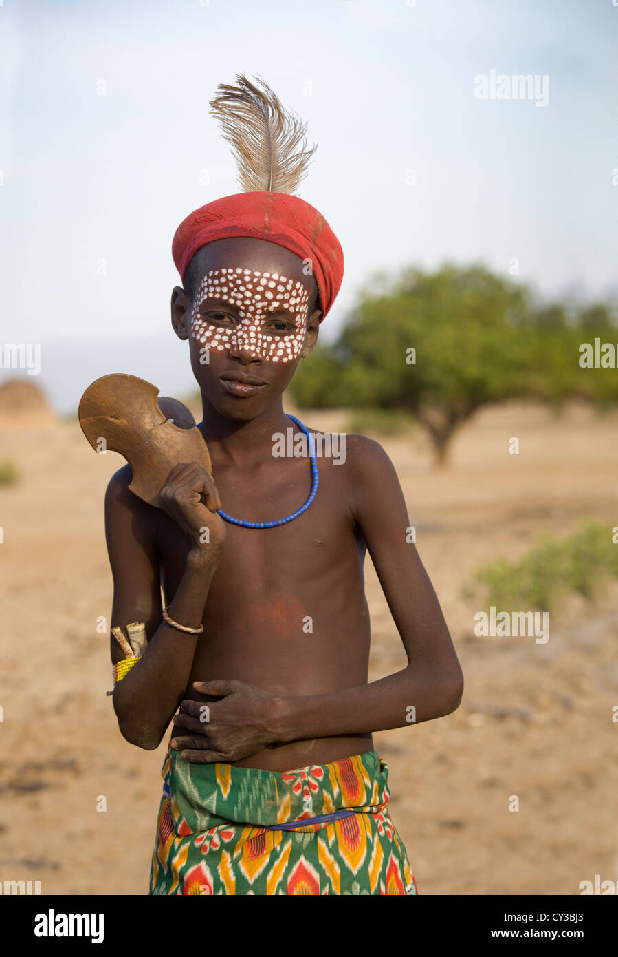 Young boy of the Erbore tribe, Omo River Valley, Ethiopia Stock Photo