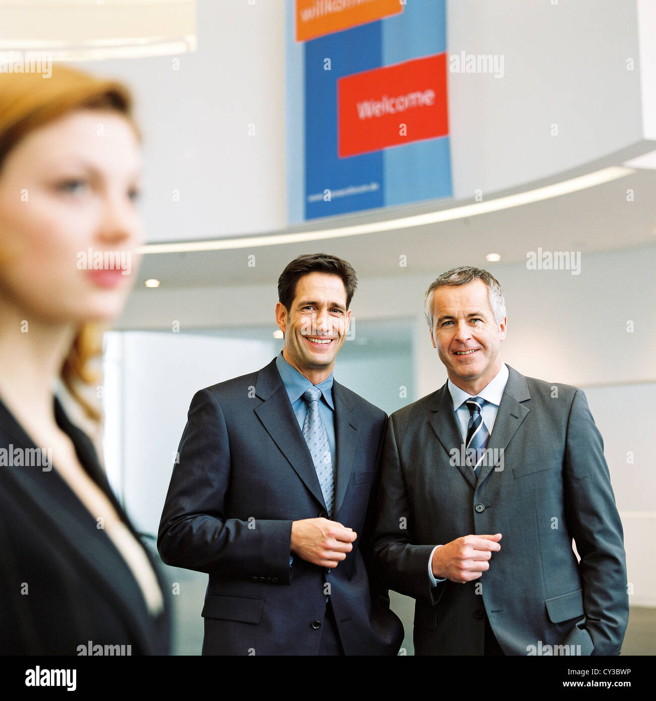 business people License free except ads and outdoor billboards Stock Photo