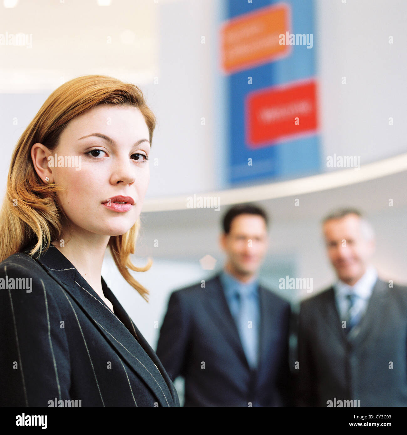 business people License free except ads and outdoor billboards - Stock Image