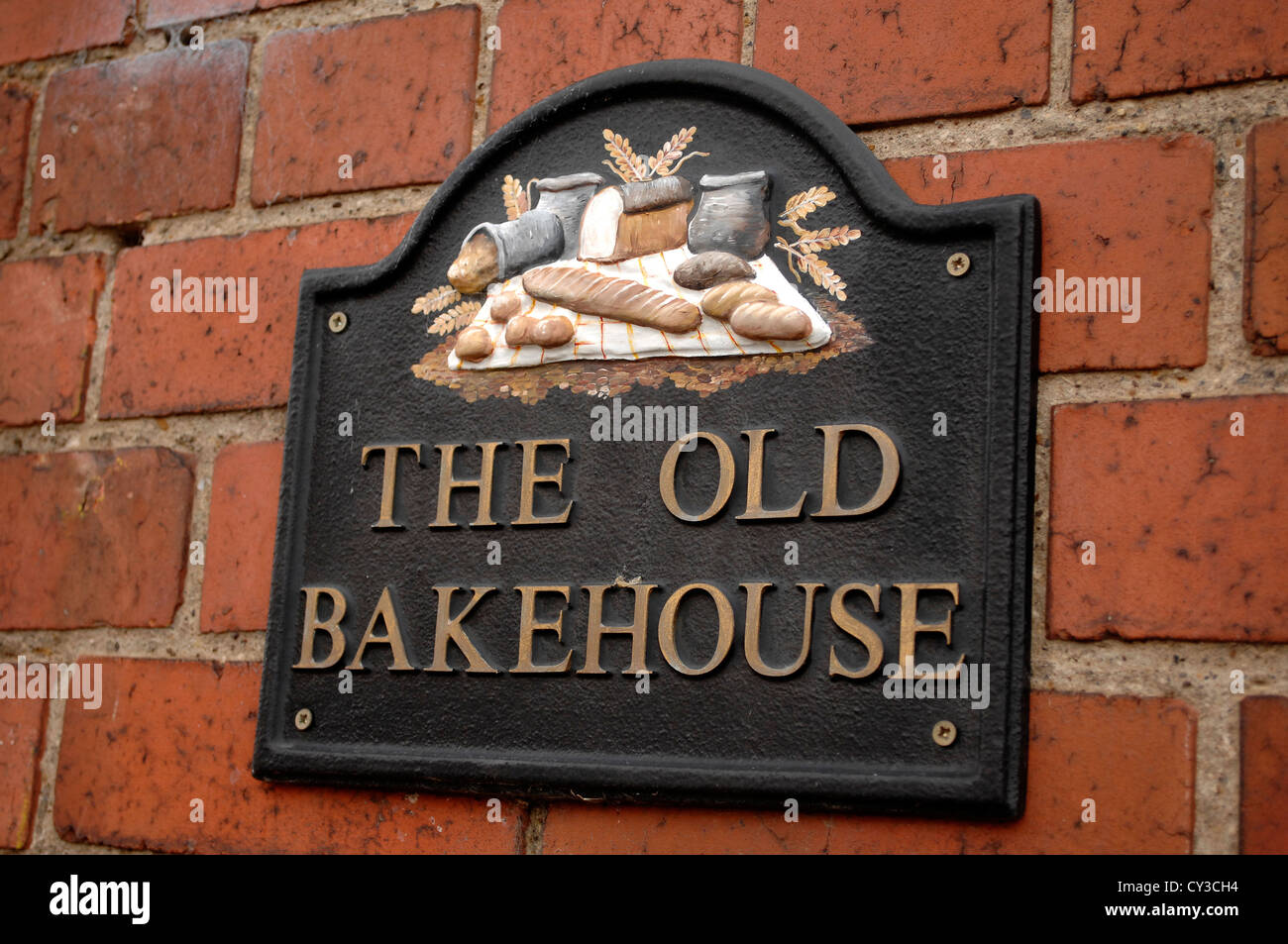 The Old Bakehouse house sign - Stock Image