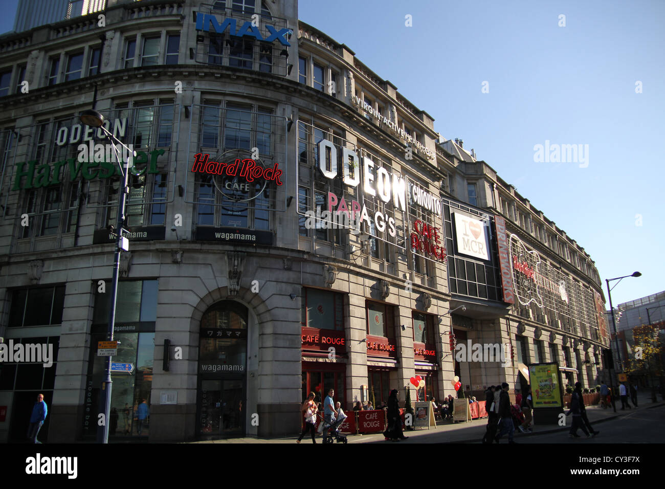 The Printworks is an entertainment venue, located on Withy Grove in Manchester city centre, England. - Stock Image