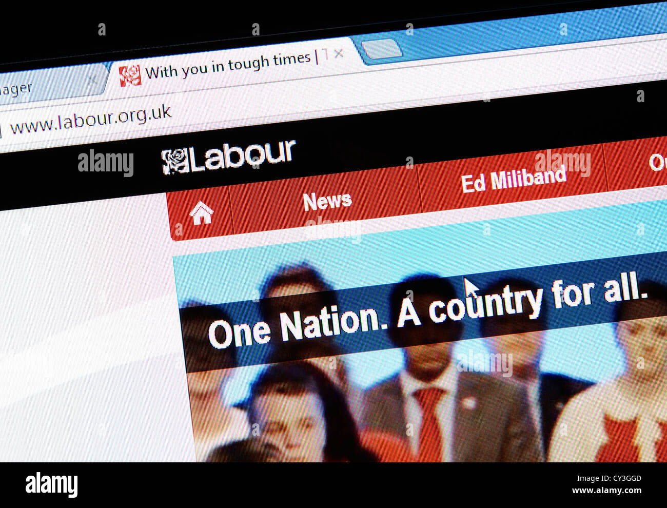 The Labour Party web site - Stock Image