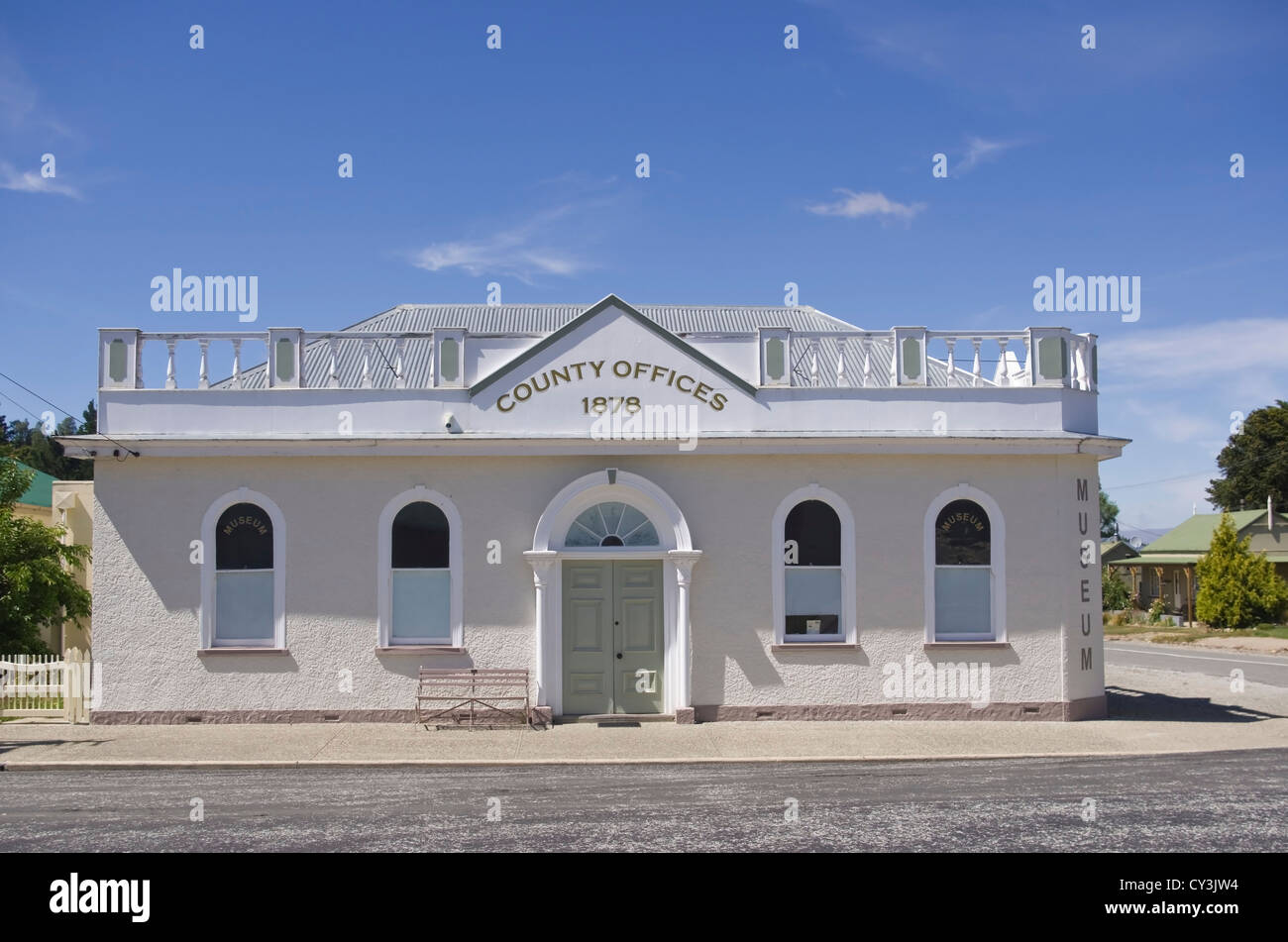 Old County Offices Building Naseby Otago New Zealand - Stock Image