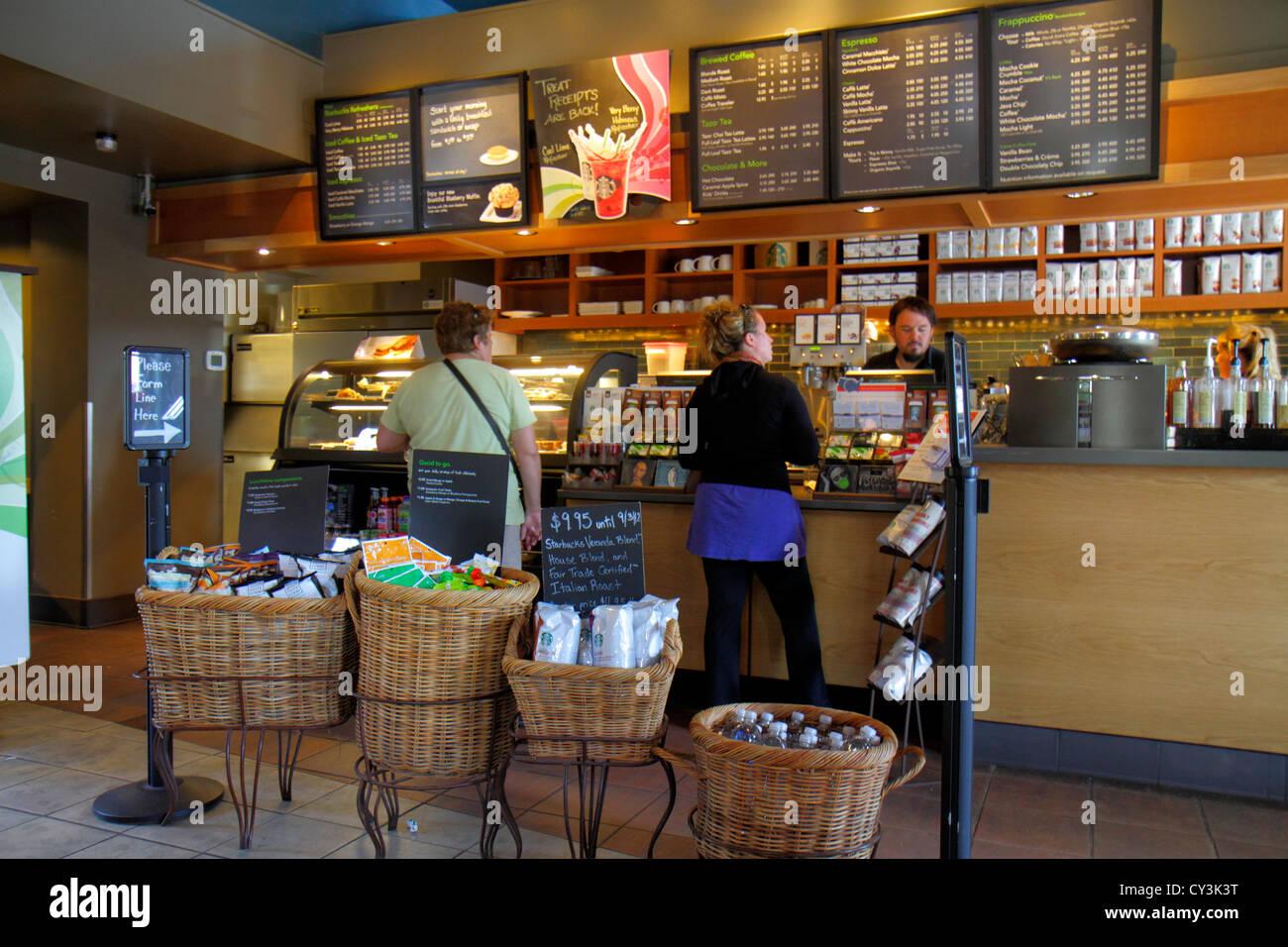 Maine Freeport Main Street Route 1 Starbucks Coffee Retail