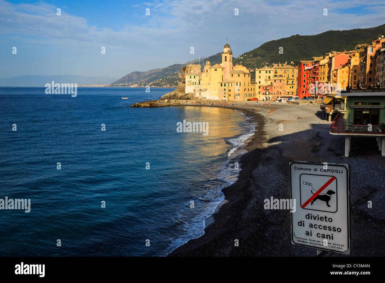 Camogli near Portofino Riviera di Levante, Liguria, Italy - Stock Image