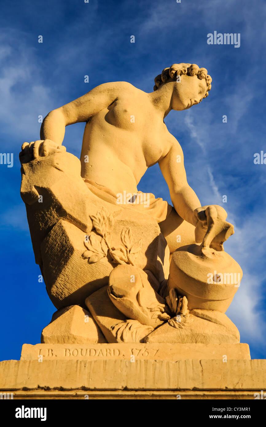 Sculpture in Parco Ducale, Parma, Emilia-Romagna, Italy - Stock Image