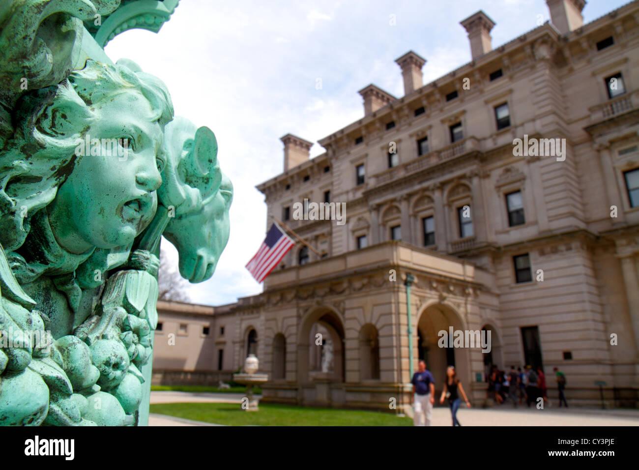 Rhode Island Newport Ochre Point Avenue Vanderbilt Gilded Age mansions museum Newport Preservation Society Goût - Stock Image