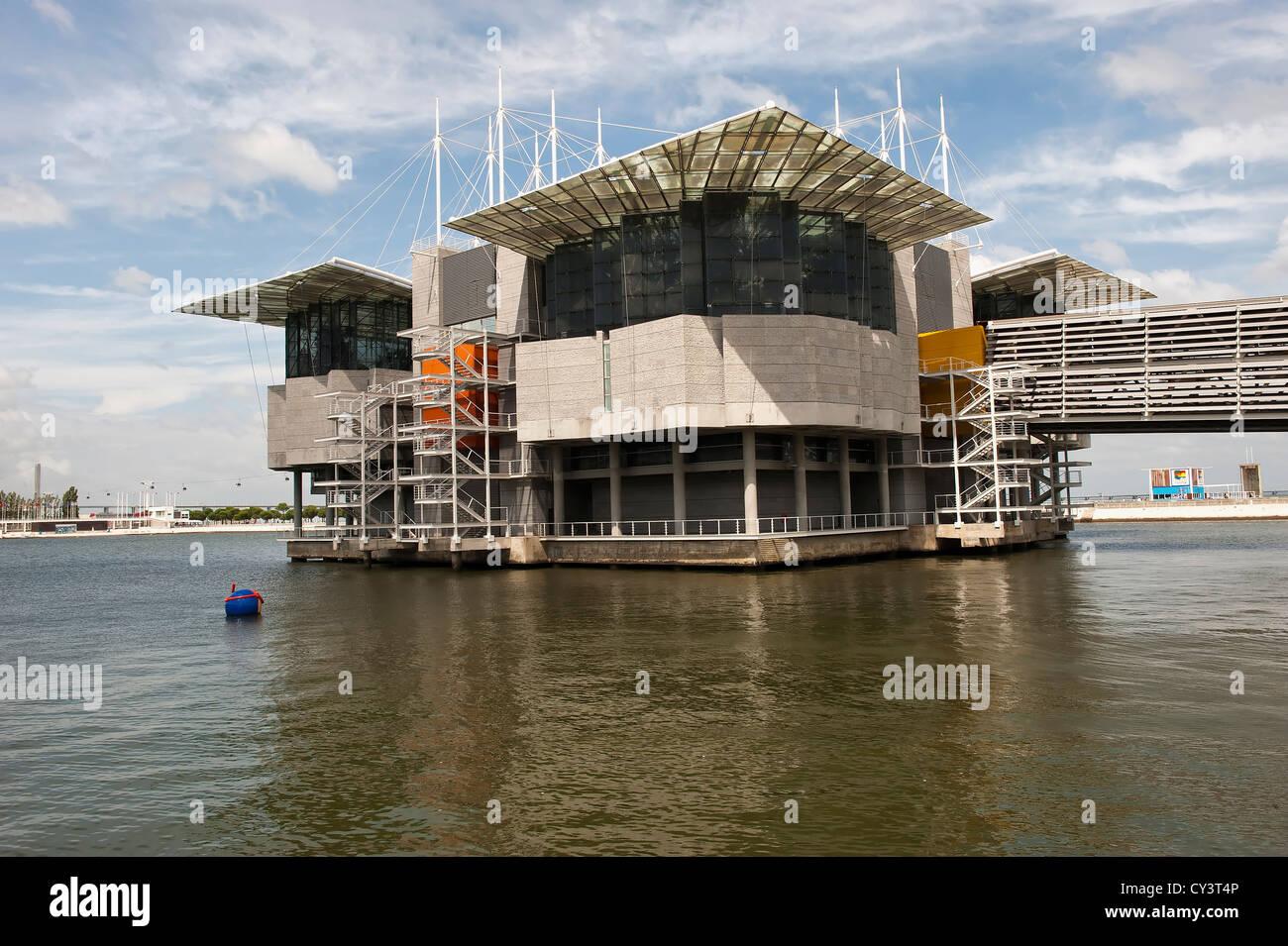 Oceanario (Aquarium), Parque das Naçoes (Park of the Nations), Lisbon, Portugal Stock Photo