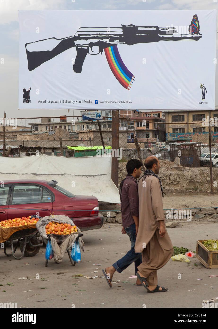 street art in Kabul - Stock Image