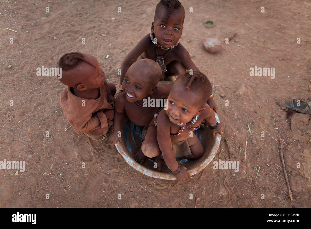 Himba tribe in Namibia. - Stock Image