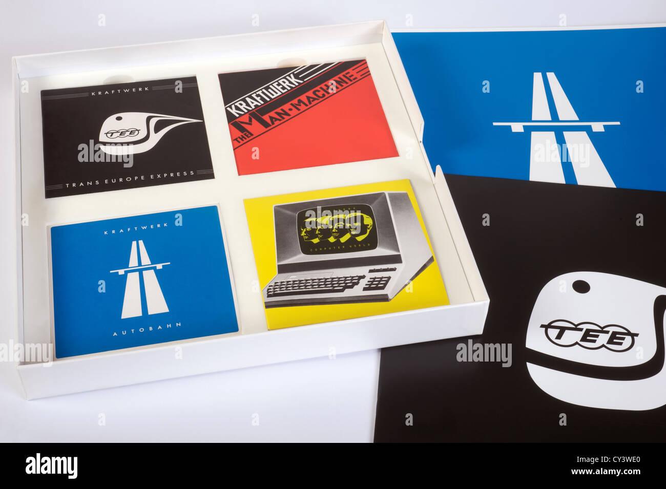 Kraftwerk The Catalalogue box set CD's Stock Photo