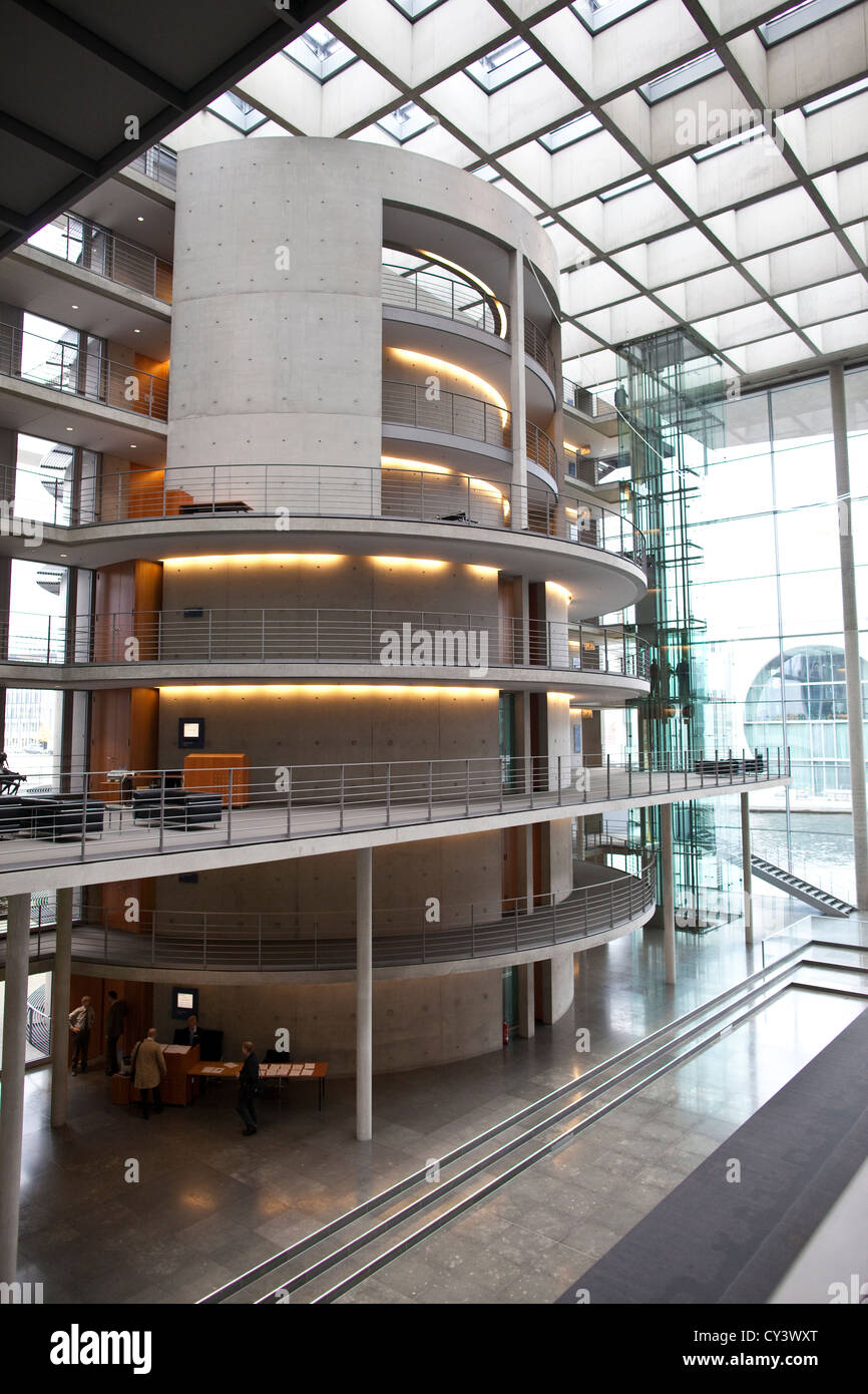 Interior of Paul Lobe Haus part of the Bundestag government buildings in Berlin, Germany - Stock Image
