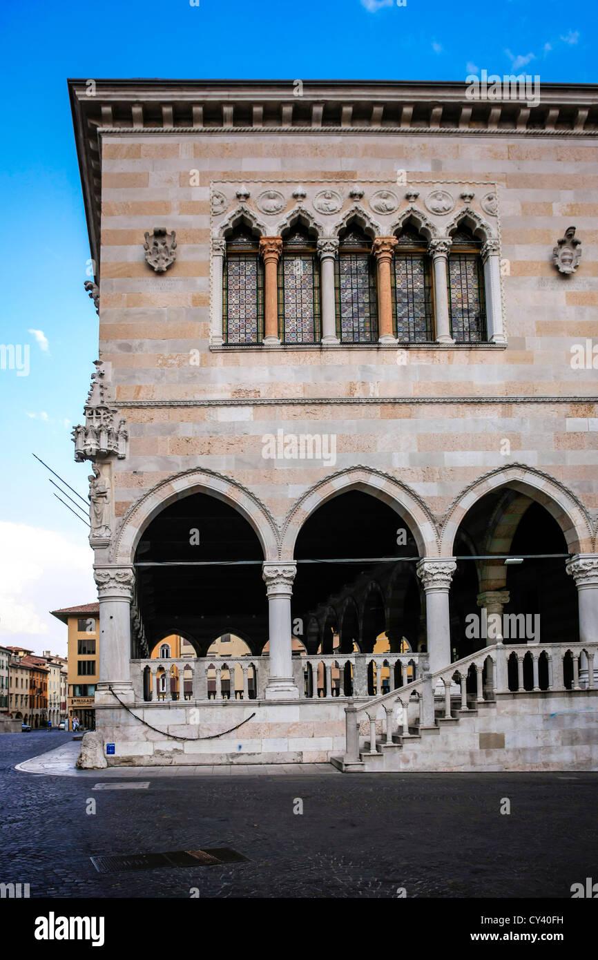 Loggia del Lionello in Piazza della Liberta in Udine Italy - Stock Image