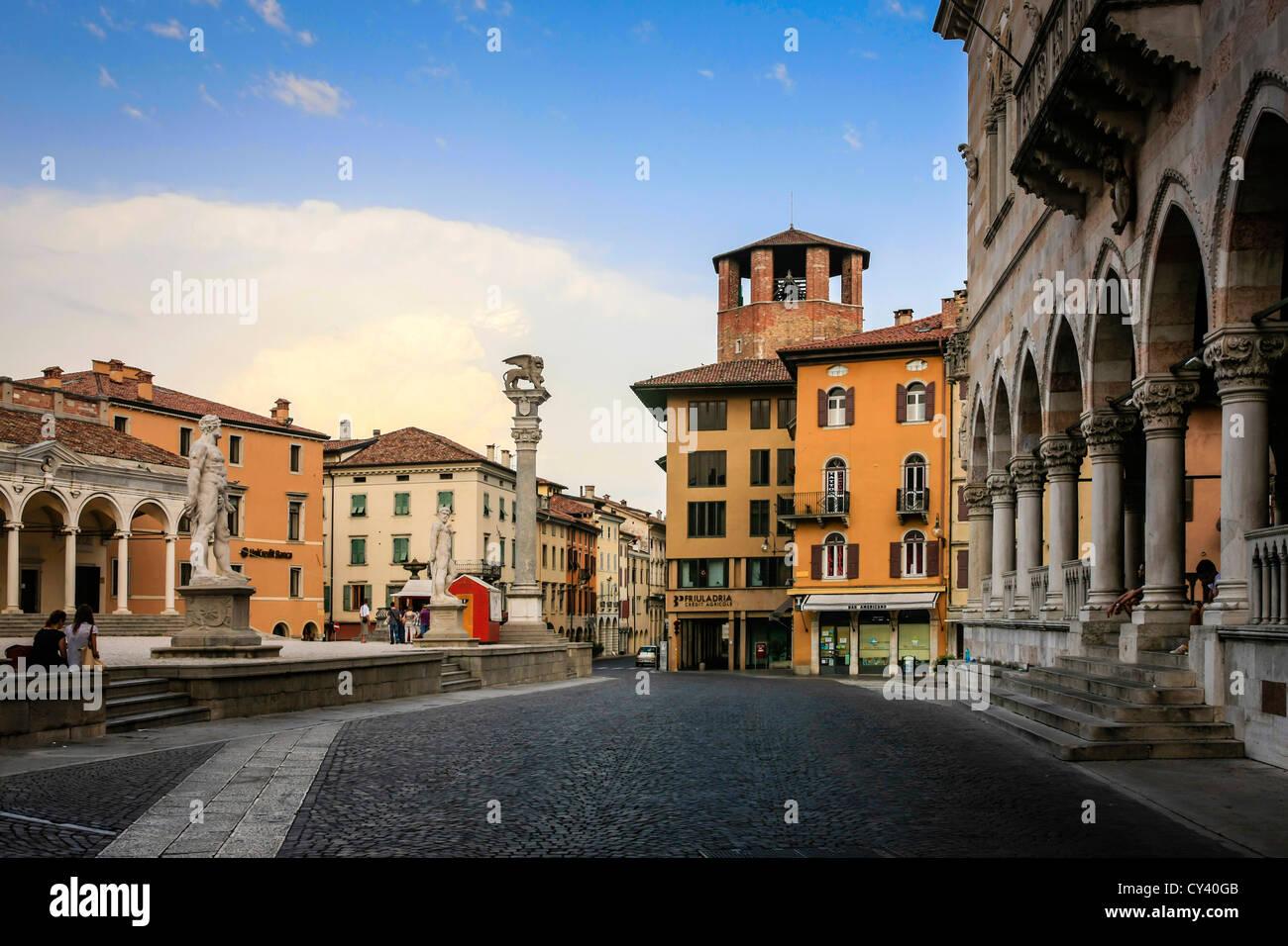 Piazza della Liberta, Udine Italy - Stock Image