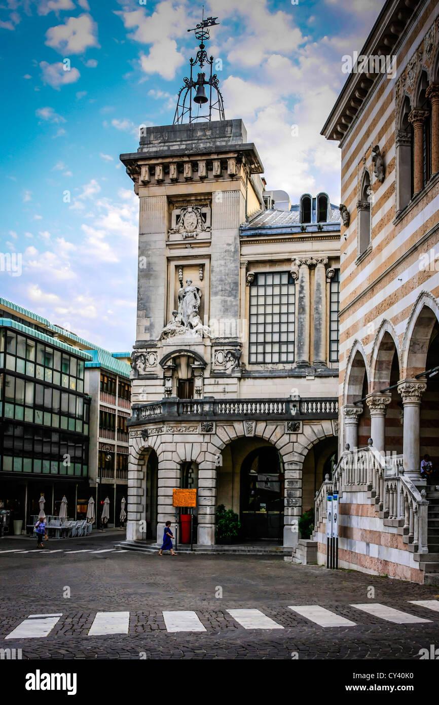 Piazza della Liberta in Udine Italy - Stock Image