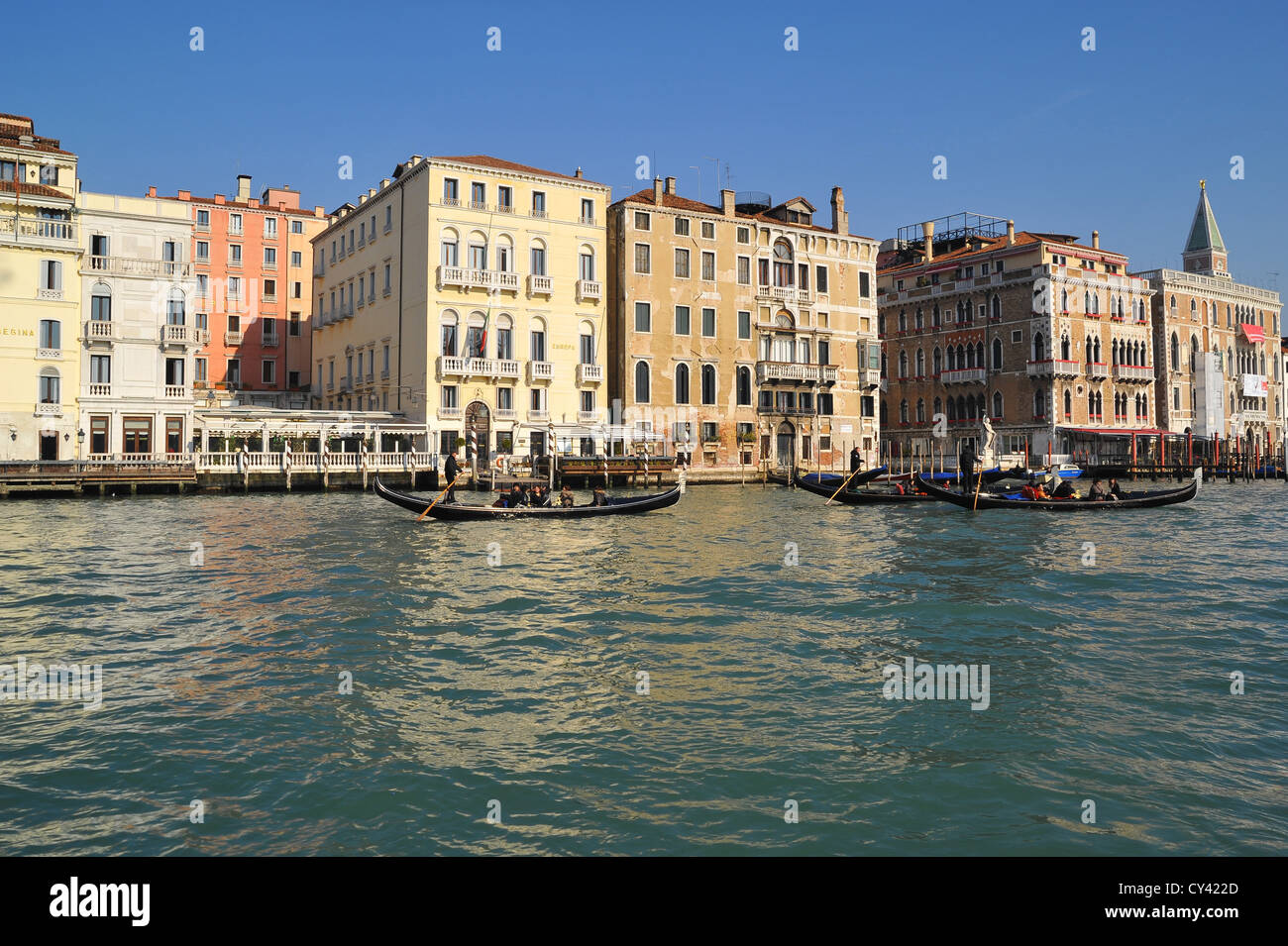 Hotel Europa on the Grand Canal, Venice, Italy. - Stock Image
