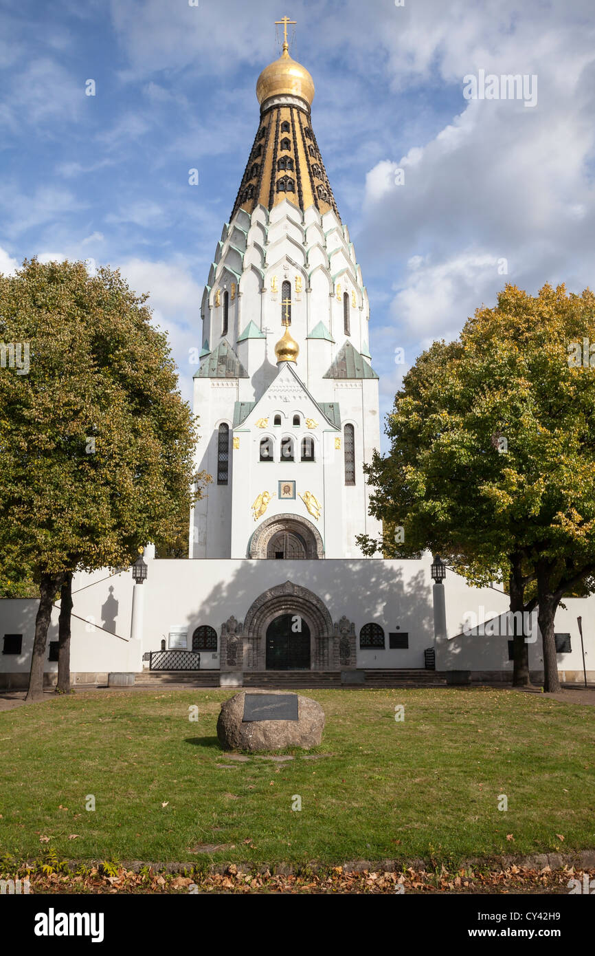 St Alexi's Russian Memorial Church, Leipzig, Saxony, Germany - Stock Image