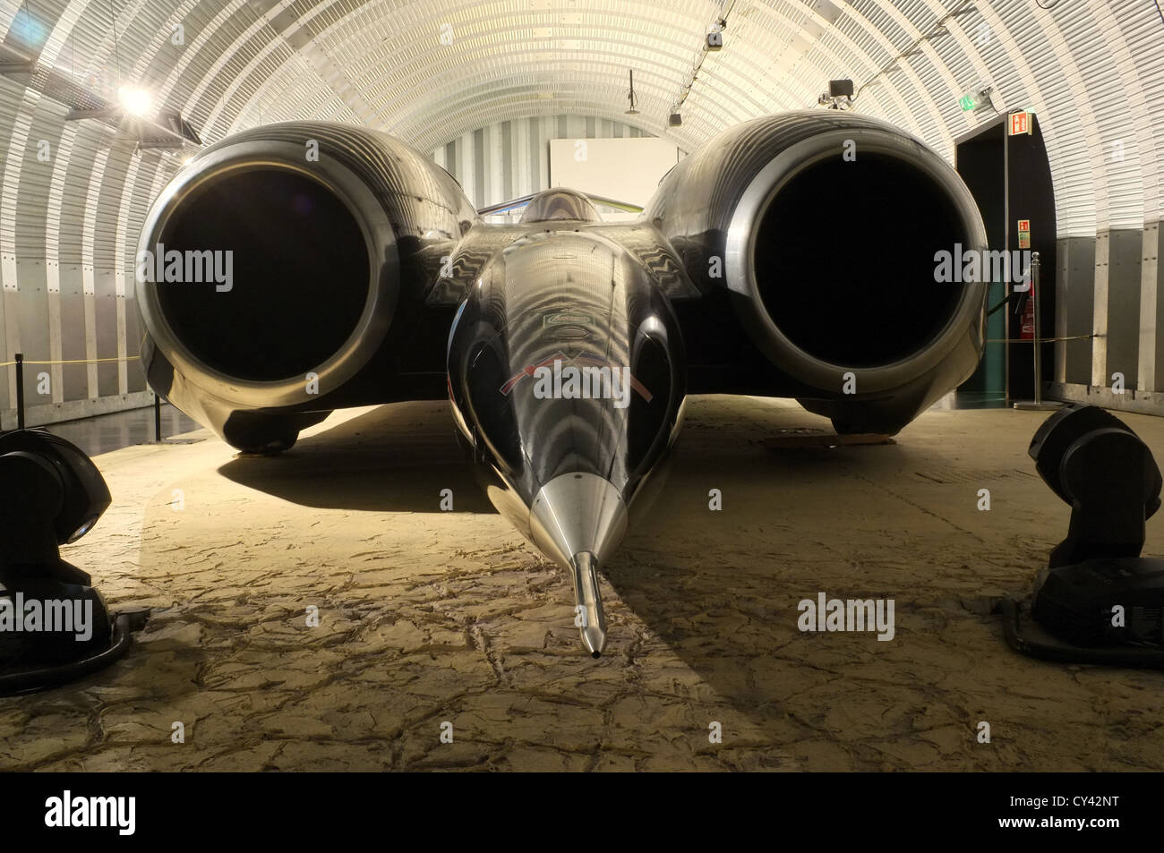 Thrust SSC Supersonic Car, Worlds fastest car & Land speed record holder - Stock Image