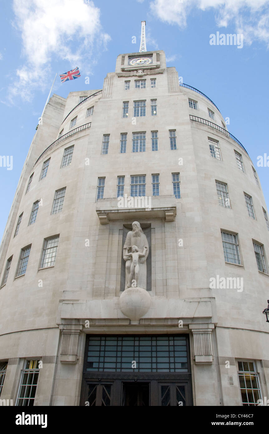 The BBC's Broadcasting House in Portland Place, London, England - Stock Image