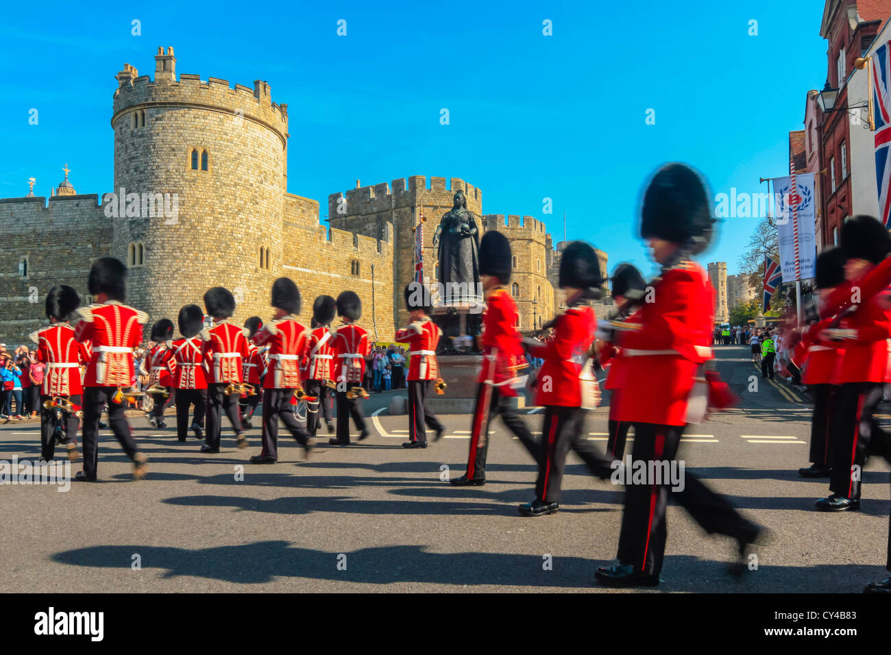 Windsor Castle, Windsor, Berkshire, UK - Stock Image