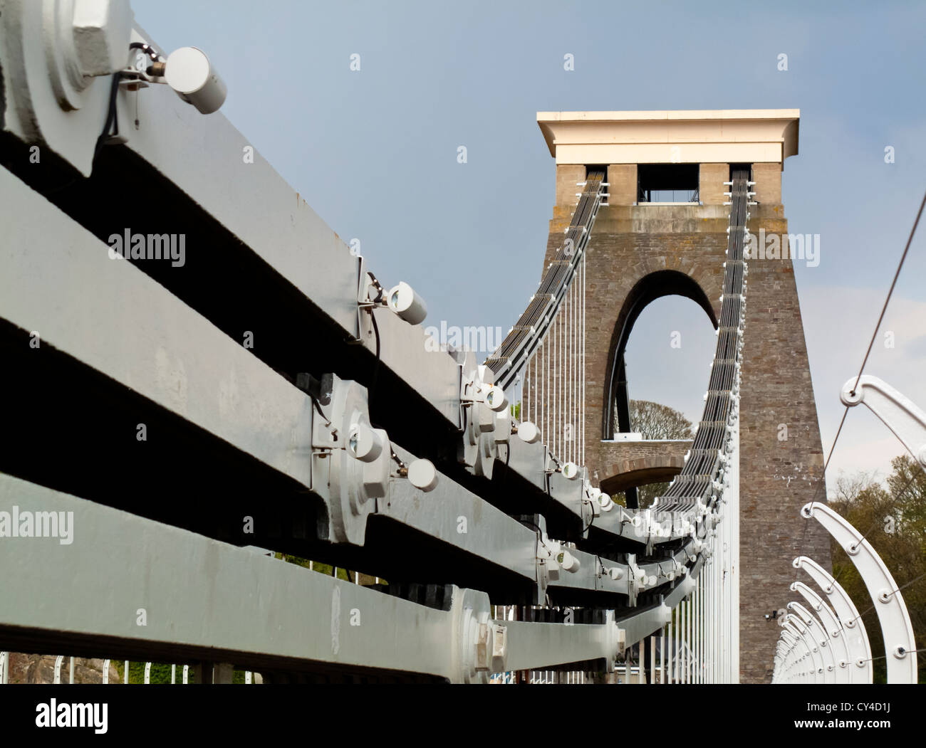 Clifton Suspension Bridge over the  River Avon Gorge in Bristol England UK designed by Isambard Kingdom Brunel and - Stock Image