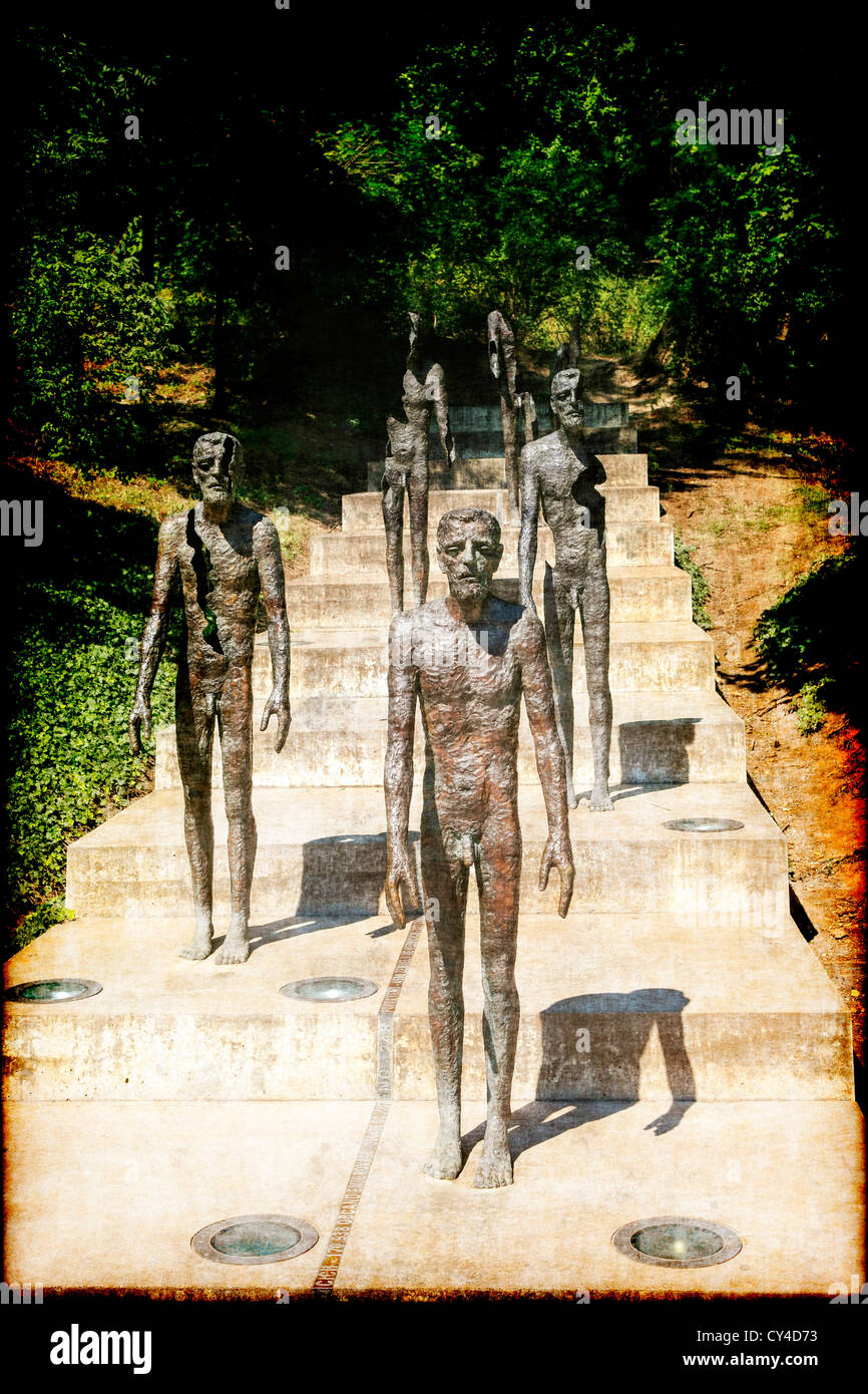Memorial to the victims of Communism and the tyranny of occupation in Prague - Stock Image