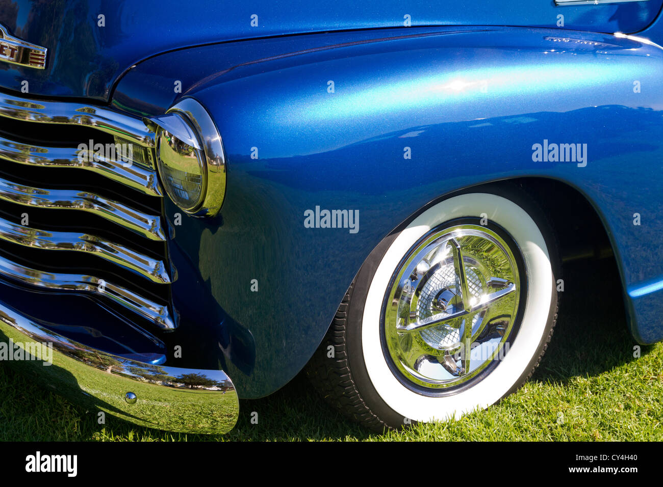 Custom Truck Stock Photos Images Alamy 1949 Chevy Panel Van 1952 Chevrolet Shown At Car Show In Goleta California Image