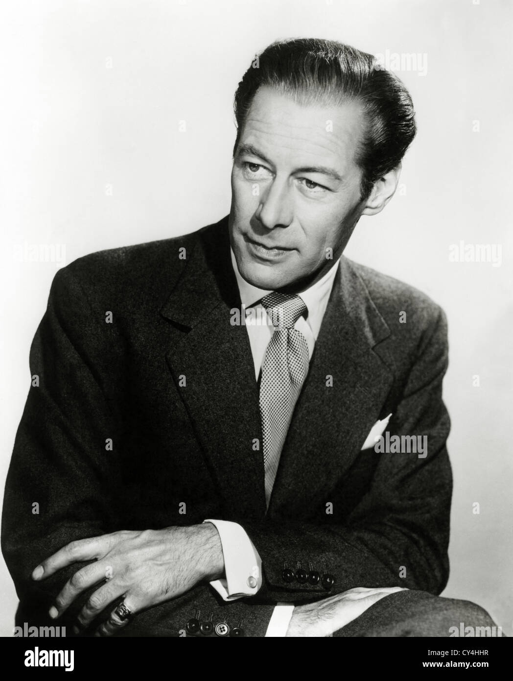 REX HARRISON, SIR (PORTRAIT) RXHS 005 MOVIESTORE COLLECTION LTD - Stock Image