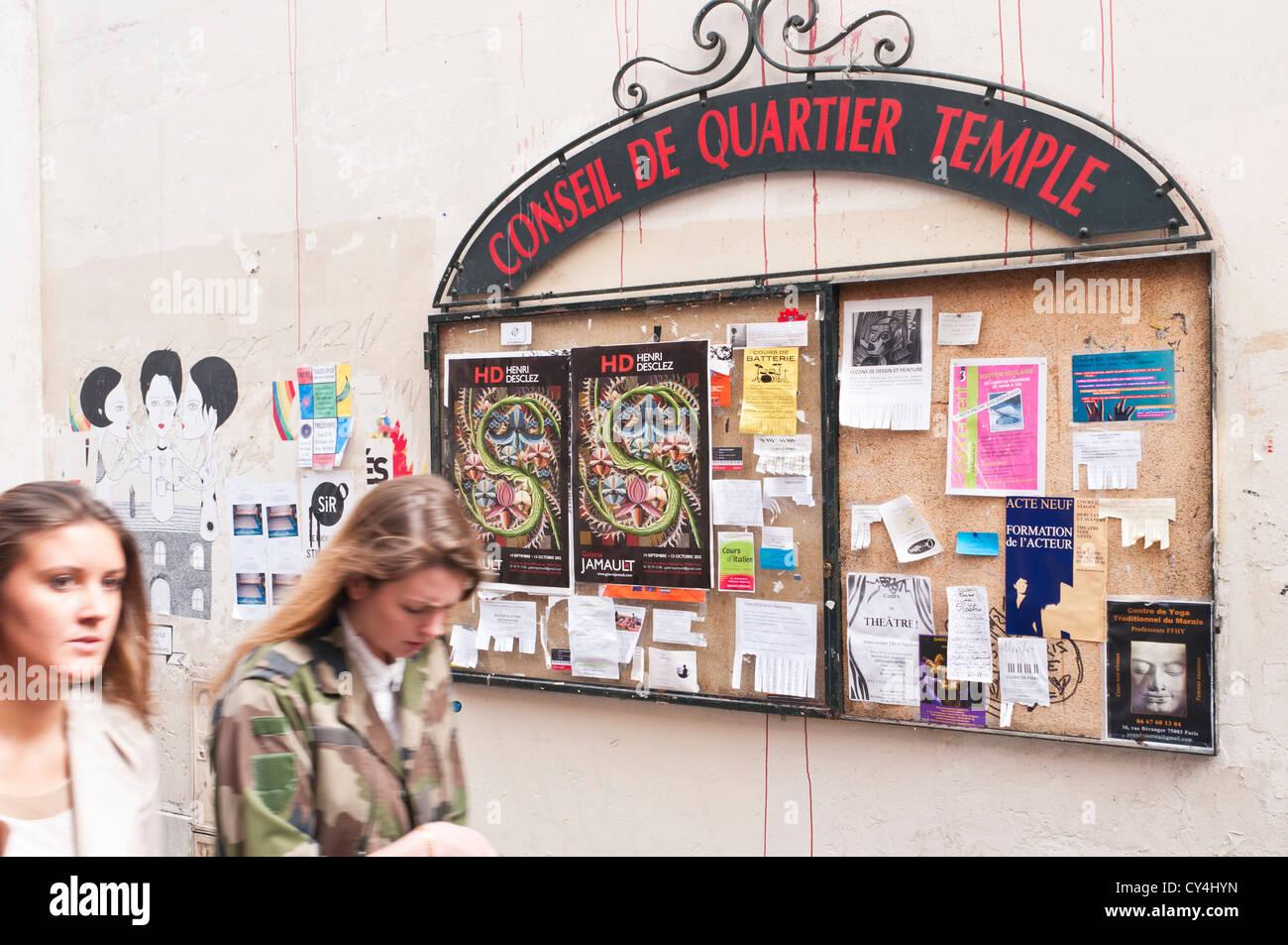 """The """"Marche des Enfants Rouges"""" Parisian outstanding Market, Paris France. Stock Photo"""