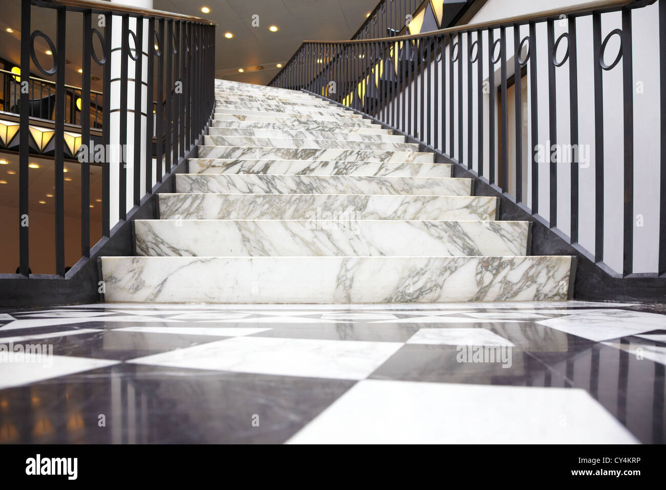 Marble Staircase In Luxury Interior   Stock Image