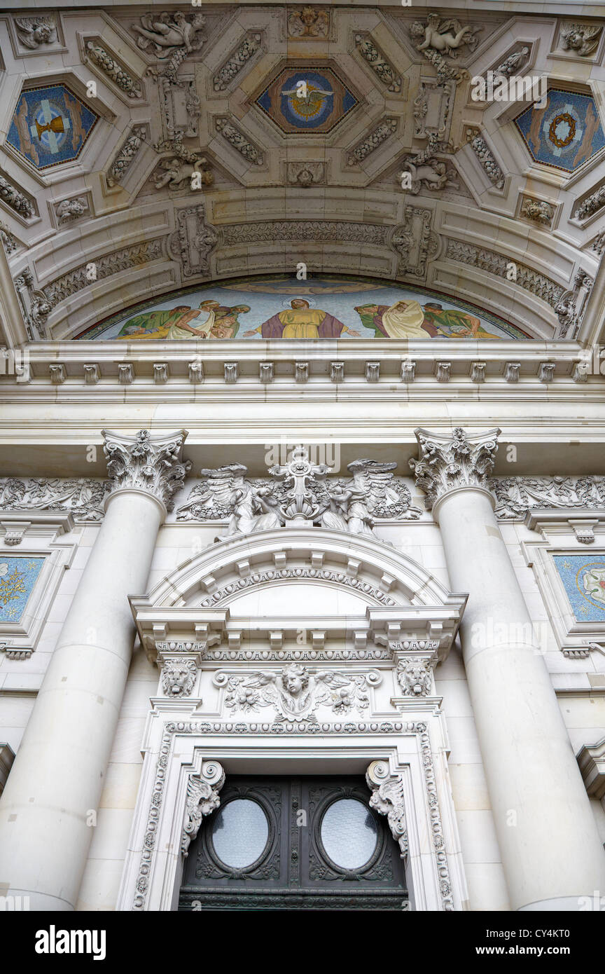 Berlin cathedral facade, Germany - Stock Image