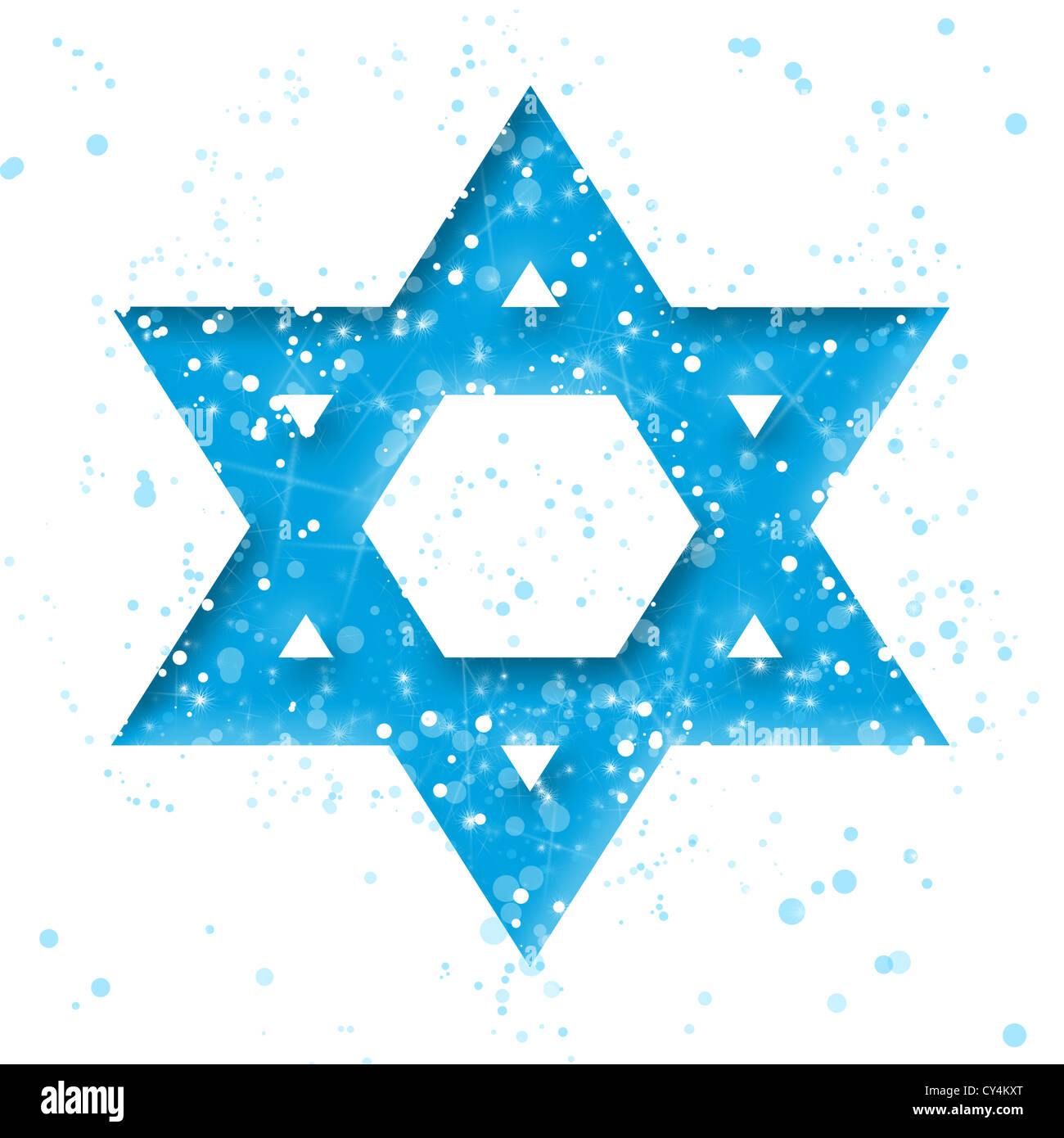 Star of David on white - Stock Image