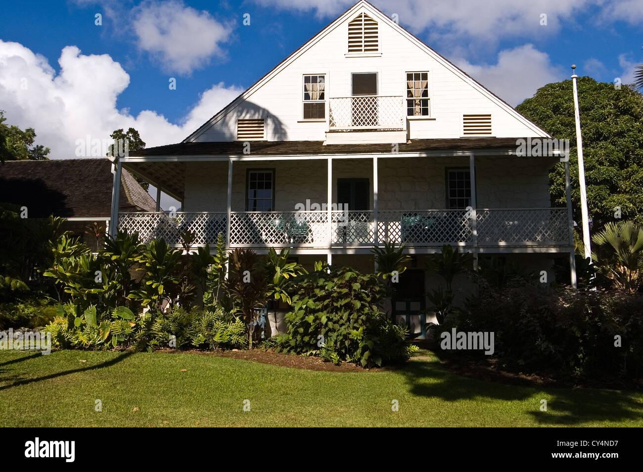 Elk284-4019  Maui, Hawaii, Wailuku, Bailey House Museum, 1833 - Stock Image