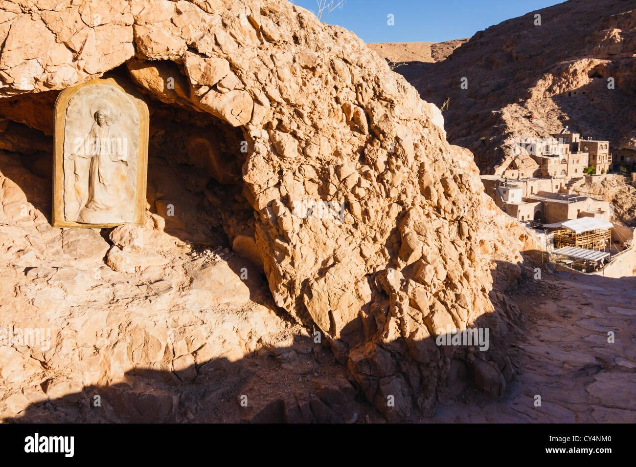 Mar Musa Monastery. Near Nebek, Syria - Stock Image